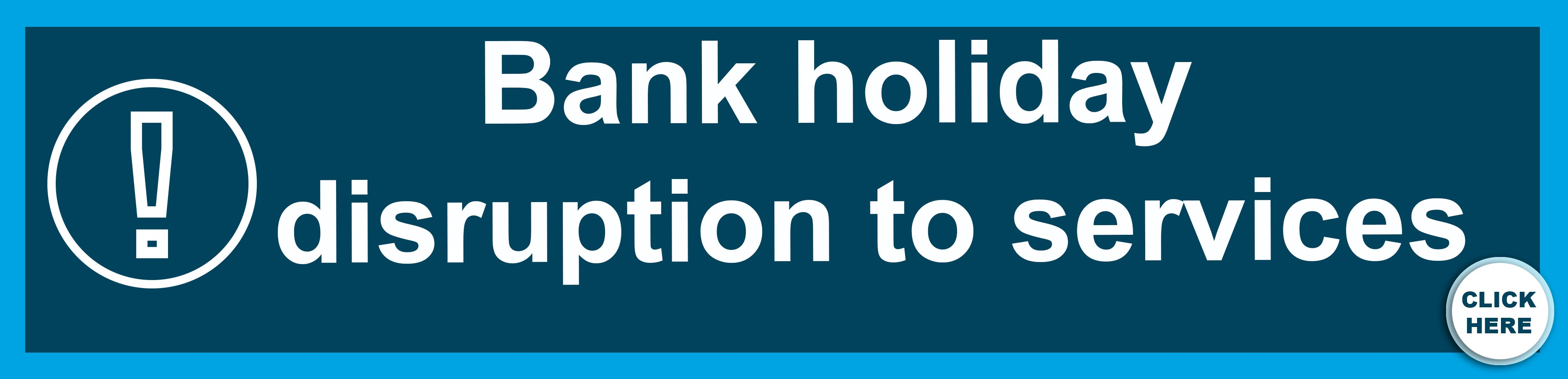 Easter bank holiday disruption to services