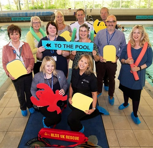 Members of Dementia Friendly Richmondshire at their Richmond Pool launch