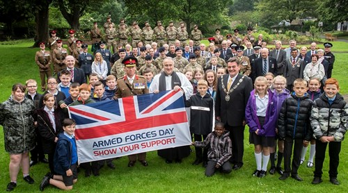 Celebration of National Armed Forces Day in Friary Gardens