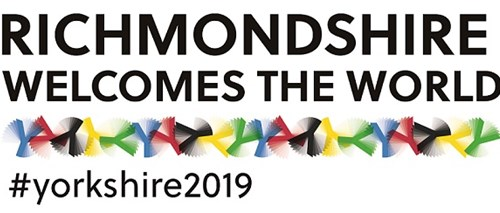 Richmondshire welcomes the world logo