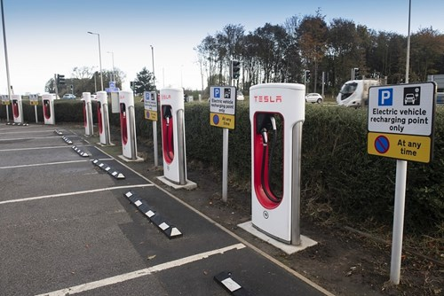 Electric charging points at Scotch Corner