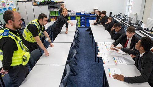Risedale School pupils learning about hate crime