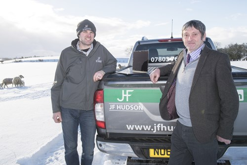 Cllr Richard Ormston with James Hudson