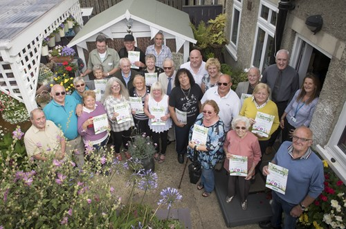The green fingered winners are pictured at the Richmond home of central area winners Mr and Mrs Mackey